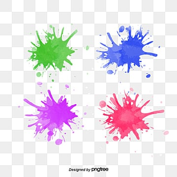 splashing elements of colored pigments, Spatter, Color, Halo Dyeing PNG and PSD