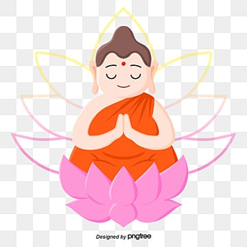 Buddhas Birthday Cartoon Closed Palm Lotus Buddha, Buddhas Birthday, Buddha, Light And Shadow PNG and PSD