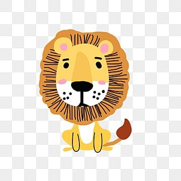 Động vật hoạt hình con sư tử vàng đáng yêu, Động Vật, Hoạt Hình, Dễ Thương png và psd