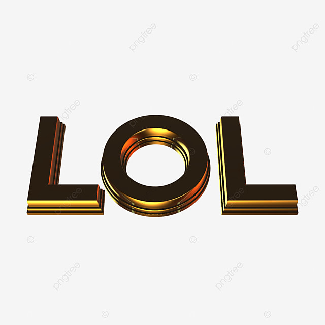 3d Lol Gold Text Art Font For Free Download