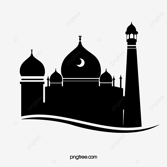 Silhouette Of Black And White Creative Mosque, Islam ...
