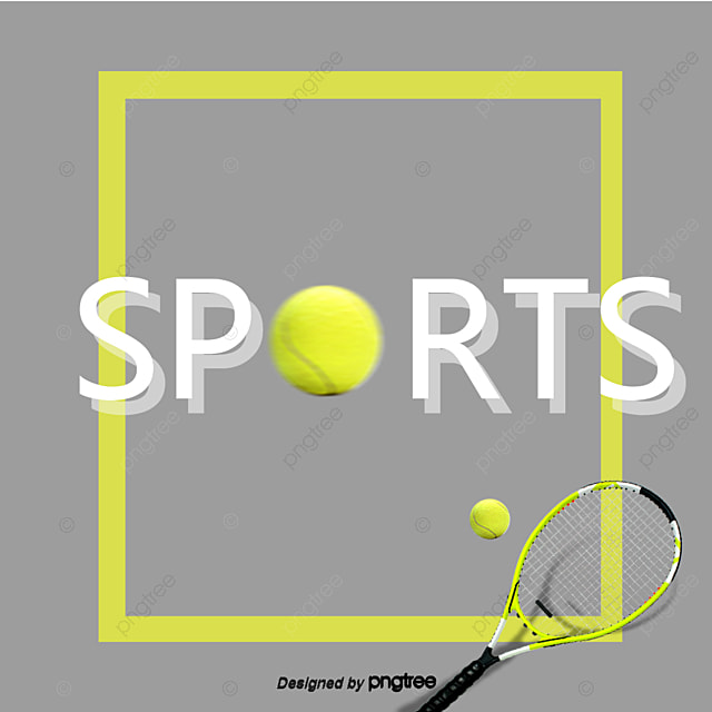 Yellow Simple Tennis Sports Font, Bodybuilding, Geometric