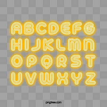 english alphabet a to z lamp effect Fonts