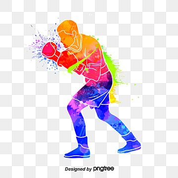 creative boxers glamour silhouettes, Multicolored, Character, Sports PNG and PSD
