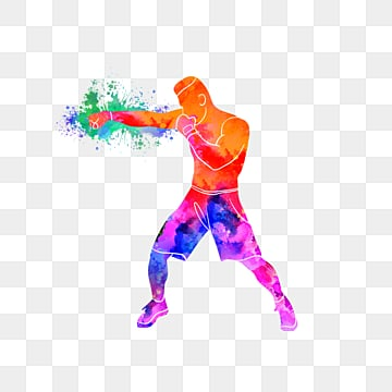 creative boxers glamour silhouettes, Multicolored, Sports, Bodybuilding PNG and PSD