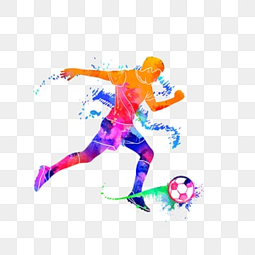 creative football playersdazzling silhouettes, Multicolored, Character, Sports PNG and PSD