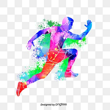 creative runnersbrilliant silhouettes, Multicolored, Sports, Bodybuilding PNG and PSD