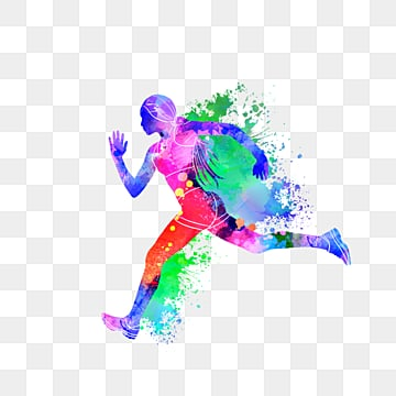 Creative runnersdazzling silhouettes, Multicolored, Sports, Bodybuilding PNG and PSD