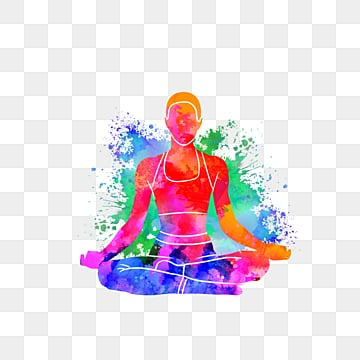 Creative Yoga Sports Silhouette, Multicolored, Sports, Bodybuilding PNG and PSD