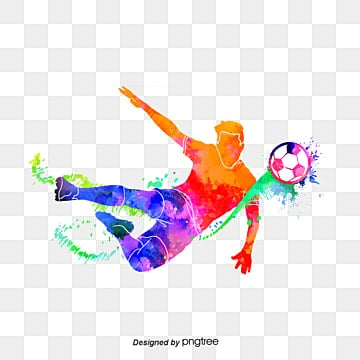 silhouette of mens creative football players, Multicolored, Sports, Bodybuilding PNG and PSD