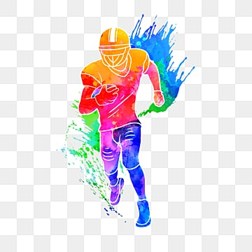 Silhouettes of Creative Rugby Players, Multicolored, Character, Sports PNG and PSD
