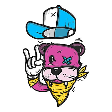 cool cartoon animals, Character Graffiti, Graffiti, Cartoon Design PNG and PSD
