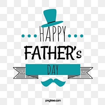 blue and black fathers day font element illustration, Hat, Stripe, Banner PNG and PSD