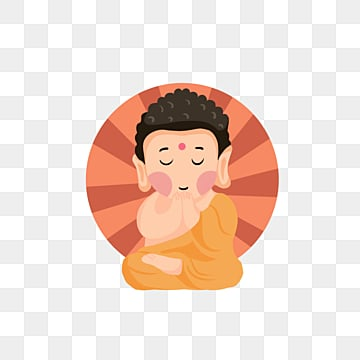 Hand-drawn cartoon illustrations of Little Buddha, Buddhism, Buddhas Birthday, Buddha PNG and PSD