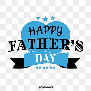 blue and black fathers day font element illustration Fonts