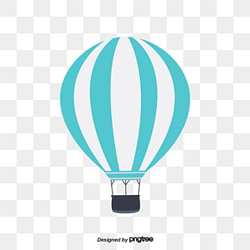 Free Download Blue And White Hot Air Balloon Png Images Balloon