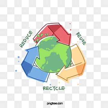Simple Cartoon Creative Earth Recycling Elements, Cartoon, Earth, Flat PNG and PSD