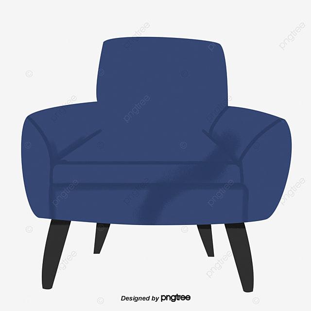 A Dark Blue Single Sofa Single Person Sofa Bedroom A Living Room