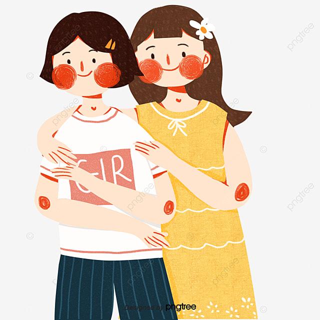 Dibujos Animados Mujeres Amigas Amigos Elemento Estilo De Dibujos Animados Amistad Png Y Psd Para Descargar Gratis Pngtree