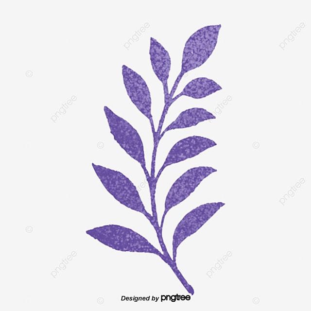 Hand Painted Purple Leaves, Element, Leaf, Leaf PNG