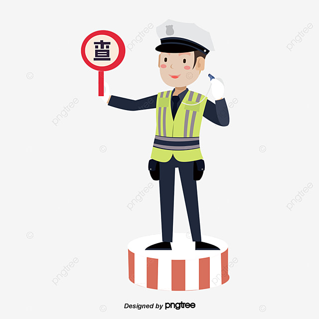 A Police Officer Directing Traffic and Inside A High School Classroom –  Clipart Cartoons By VectorToons