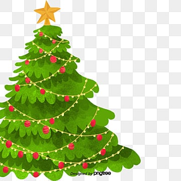 Cartoon Christmas Tree.Cartoon Christmas Tree Png Images Vector And Psd Files