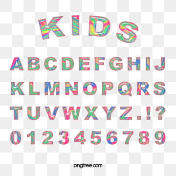coloured confectionery alphabet fine edition alphabet list Fonts