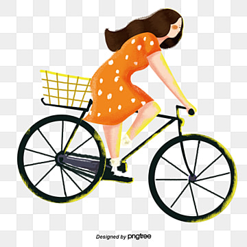 girls ride bicycles in summer, Vehicle, Walking Tool, Low Carbon PNG and PSD