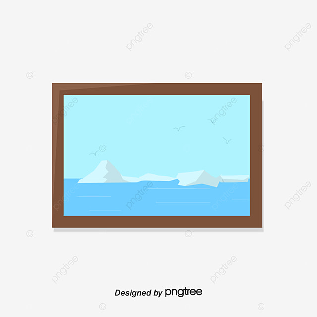Blue Ocean Wall Painting Decorative Frame Wall Painting Hanging