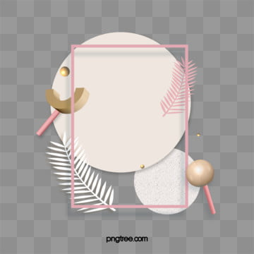 3D geometric shapes fashion frame, 3d, Abstract, Design Element PNG and PSD