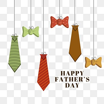 cartoon fathers day hanging tie bow, Cartoon, Hanging, Fathers Day PNG and PSD