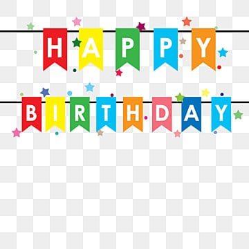 Happy Birthday Banner Png Vector Psd And Clipart With
