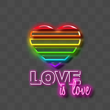 Pride Moon Neon Lamp Effect Creative Lamp Typography, Lgbt, Rainbow, Lamp Tube PNG and PSD