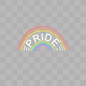 Rainbow neon effect font, Pride, Typeface, Color PNG and PSD
