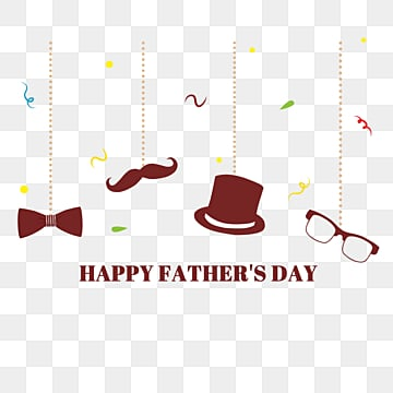 simple fathers day decorative materials, Hat, Fathers Day, Glasses PNG and PSD