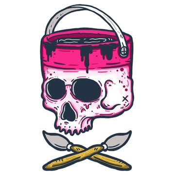 skull paint cans, Clothing Design, Clothing, Art PNG and PSD