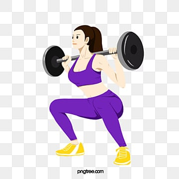 women lifting colorful weights, Bodybuilding, Element, Action PNG and PSD