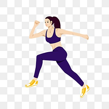 women running in color, Bodybuilding, Element, Action PNG and PSD