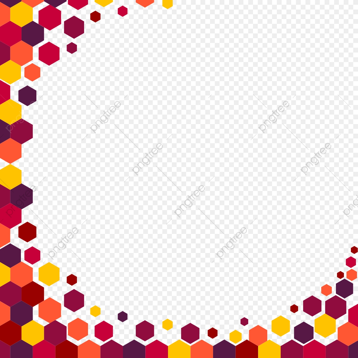 Abstract Colourful Background Border, Abstract Borders And