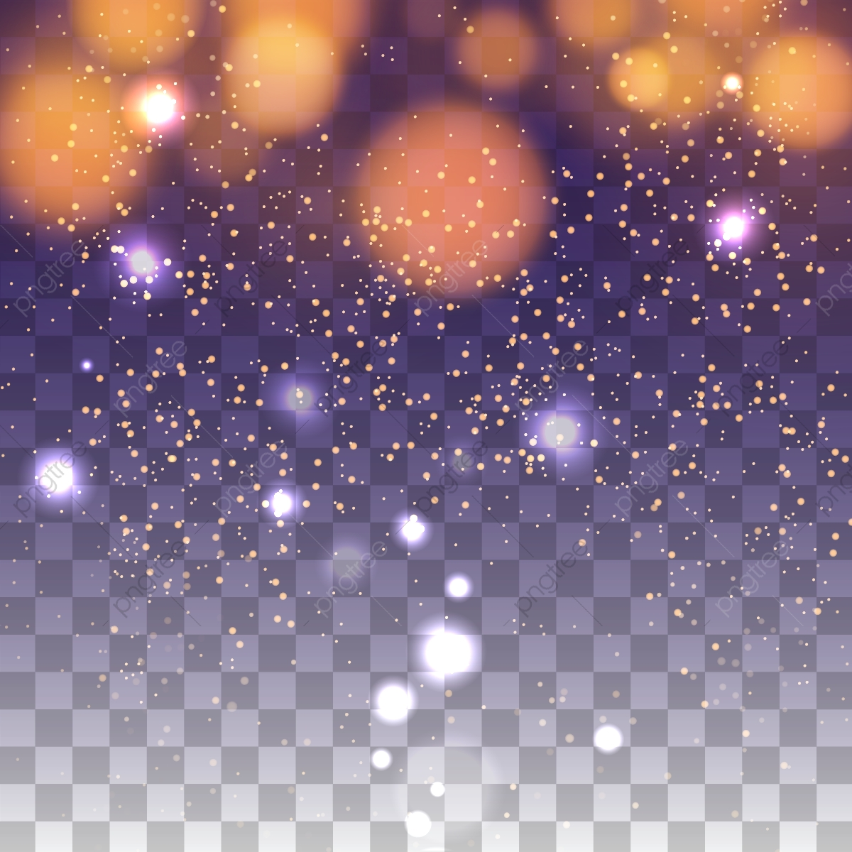 abstract light bokeh transparent background  bokeh