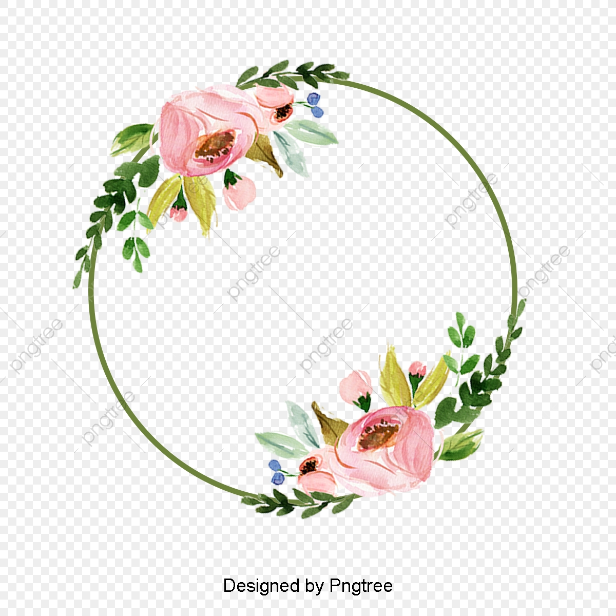 Beautiful And Colorful Flower Border Elements Design Ring Lace