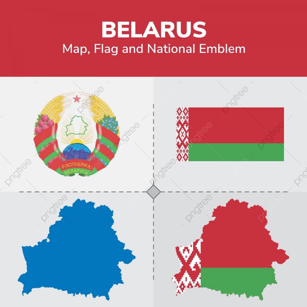 Belarus Kartu Flag I Gerb Kontinentov Stran Karty Png I Vektor
