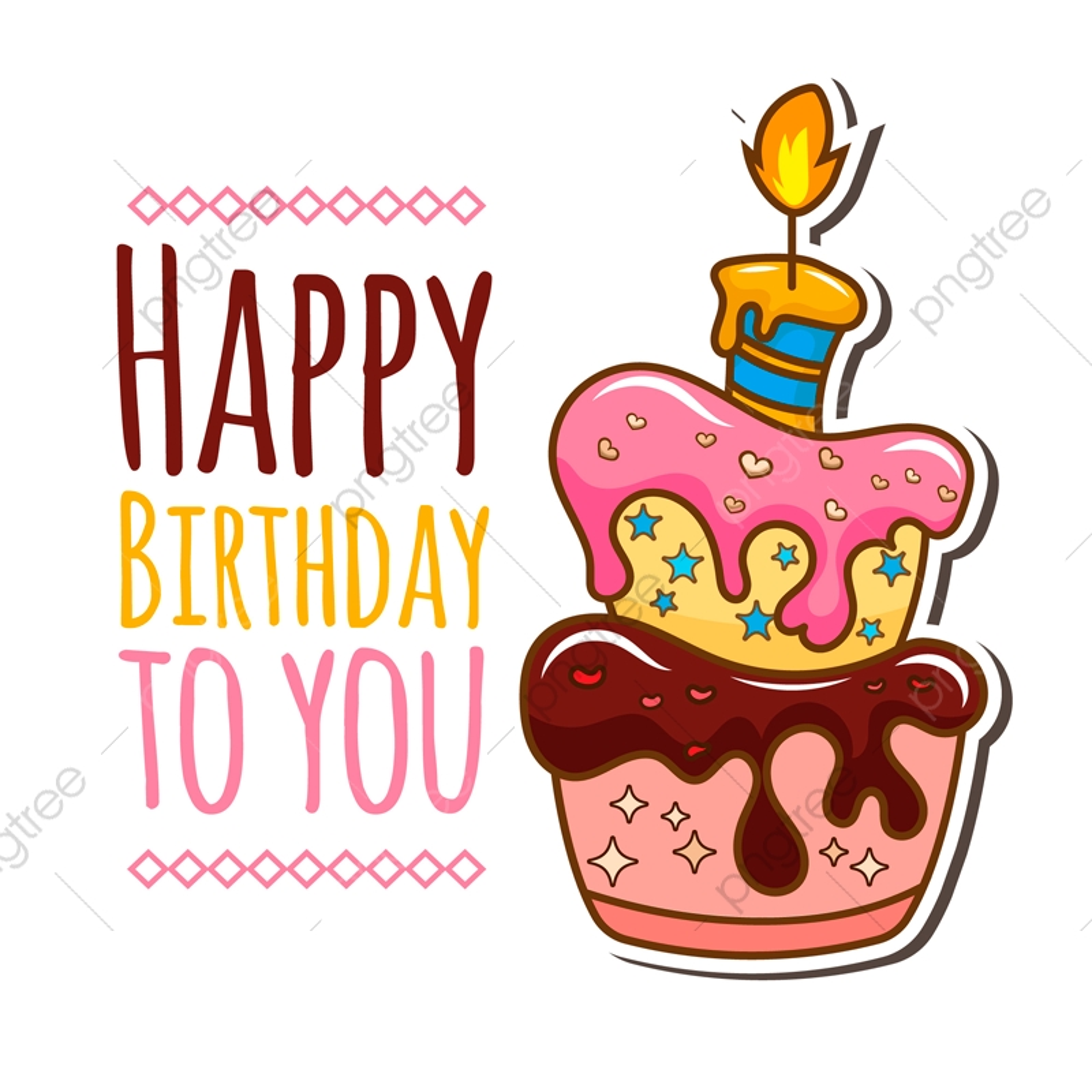 Superb Birthday Card With Cake Illustration Cake Birthday Illustration Funny Birthday Cards Online Benoljebrpdamsfinfo