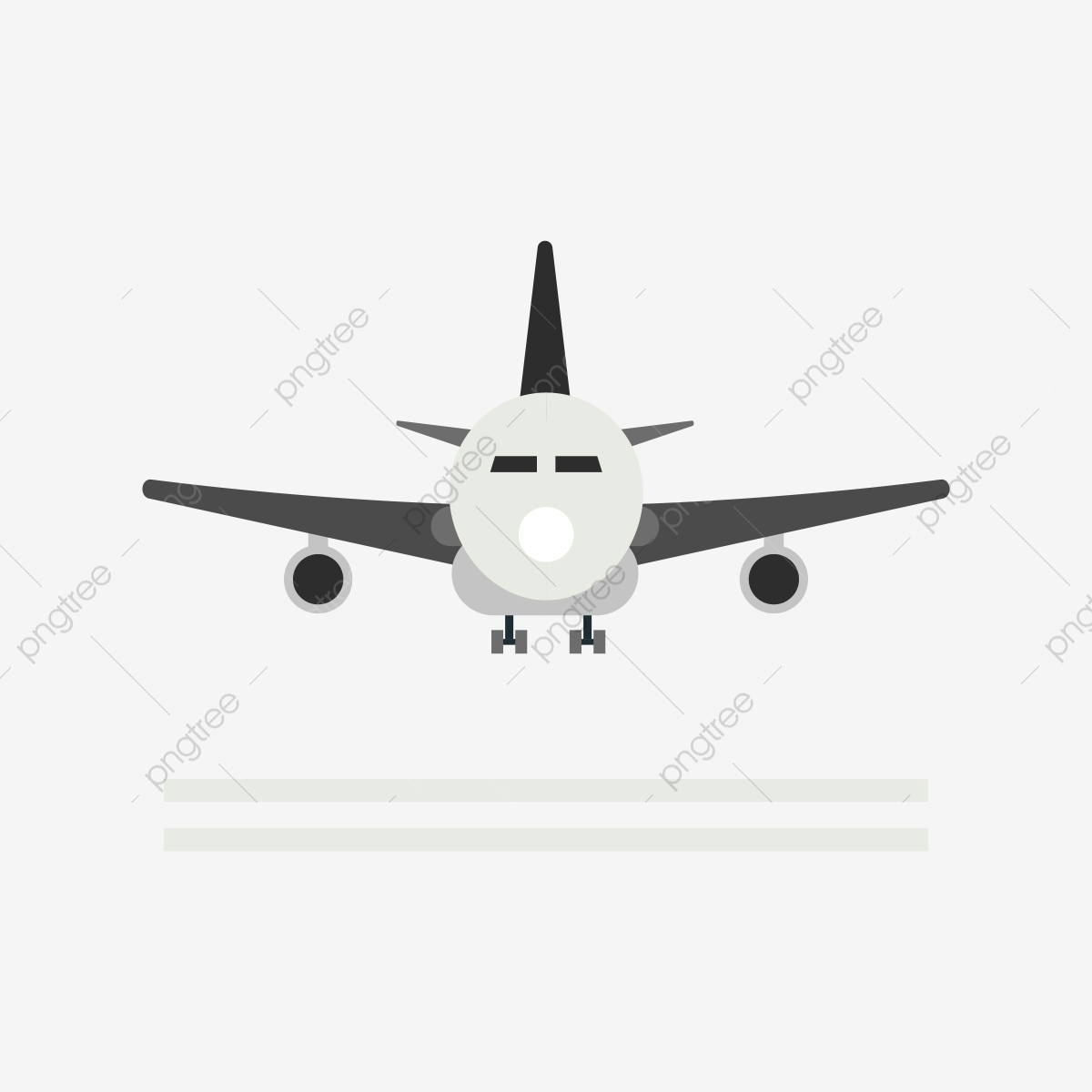 Airplane vector. Black clipart png and