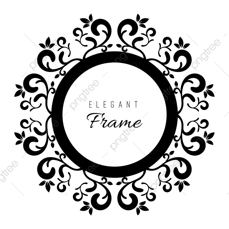 Black And White Ornament Frame, Frame, Vintage, Frames PNG