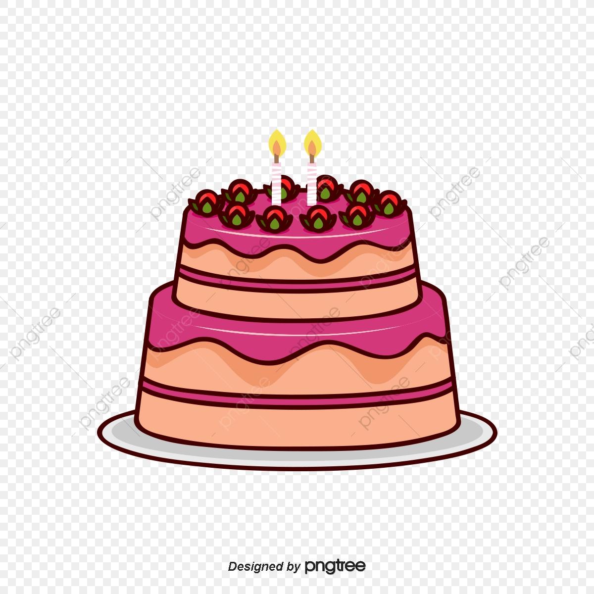 13d4bf3ba Torta De Cumpleaños De Dibujos Animados Vector Dibujo De Tarta De ...
