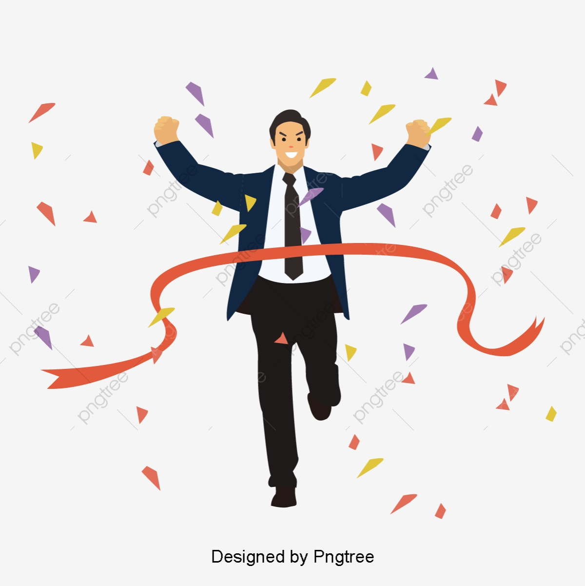 cartoon character success material cartoon hand painted character png and vector with transparent background for free download https pngtree com freepng cartoon character success material 3687115 html