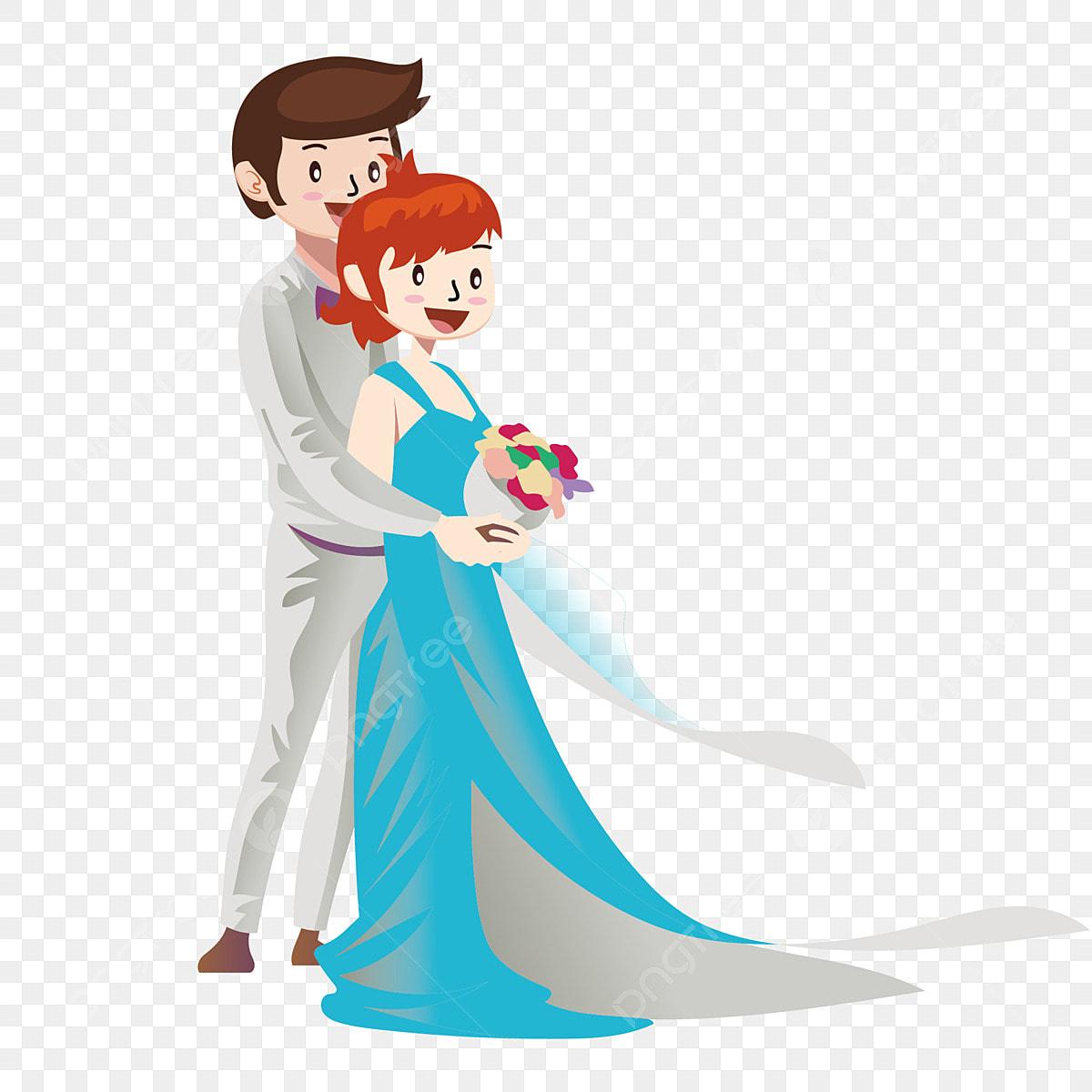 Unsur Kekasih Pasangan Kartun Yang Mengambil Gambar