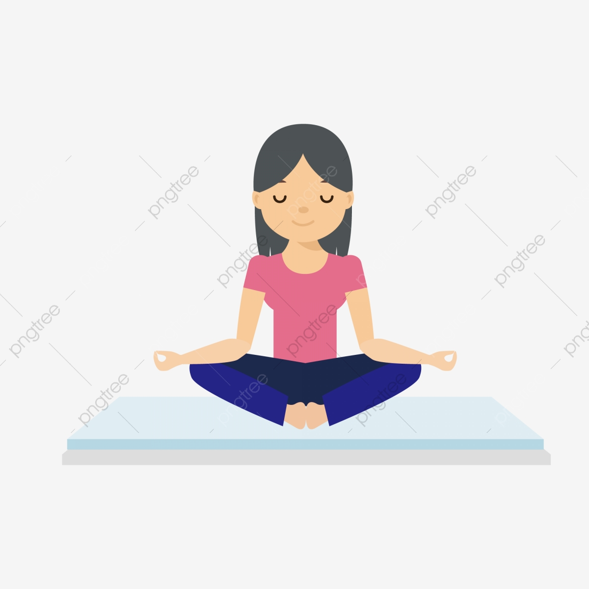 Cartoon Yoga Female Character Design Yoga Day Cartoon Yoga Motion Png Transparent Image And Clipart For Free Download