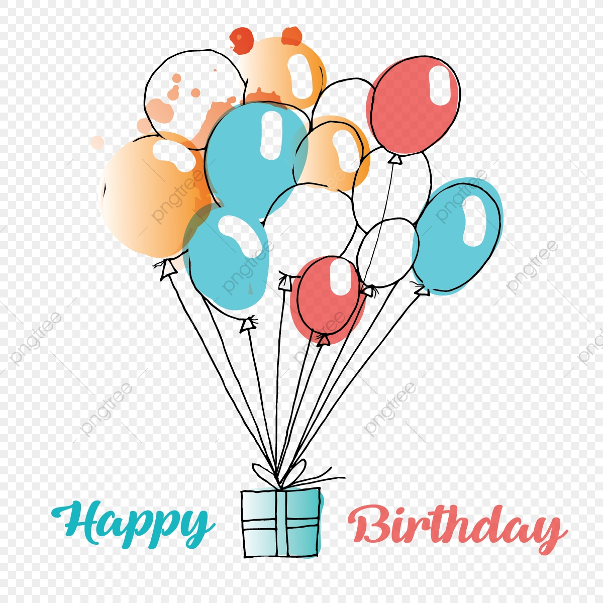 Commercial Use Resource Upgrade To Premium Plan And Get License AuthorizationUpgradeNow Colorful Birthday Gift Balloons Flying Theme